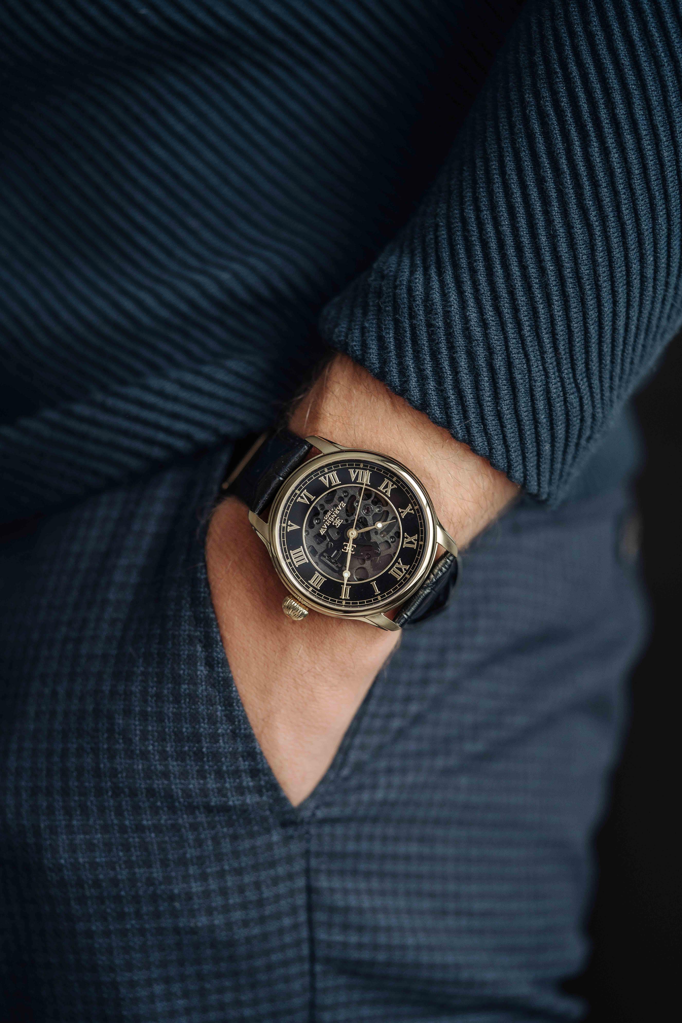 Đồng hồ nam dây da chính hãng Thomas Earnshaw ES-8807-02