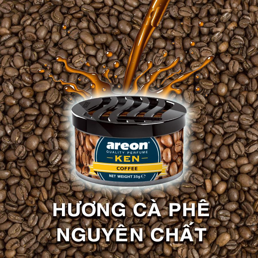 Sáp thơm ô tô Areon mùi Cafe- Sảng Khoái, Tỉnh Táo, Thức Tỉnh Cả Đam Mê - Areon Ken Coffee
