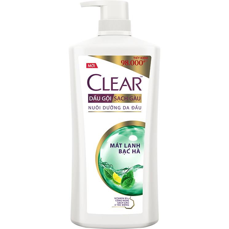 Hình ảnh Dầu Gội Sạch Gàu CLEAR Mát Lạnh Bạc Hà (900g)