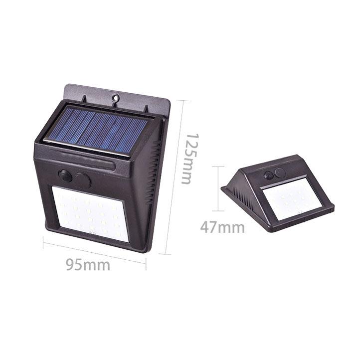 Đèn LED Cảm Biến Chuyển Động 30 Led Sân Vườn Năng Lượng Mặt Trời (Kháng Nước)