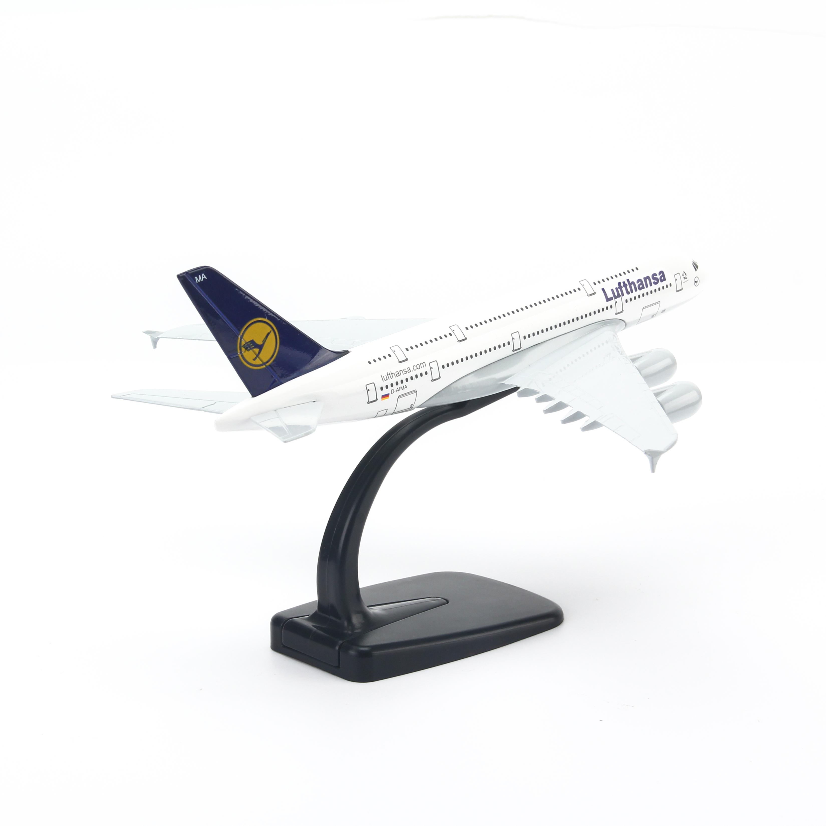 Mô Hình Máy Bay Trưng Bày Airbus A380 Lufthansa Everfly (20cm)