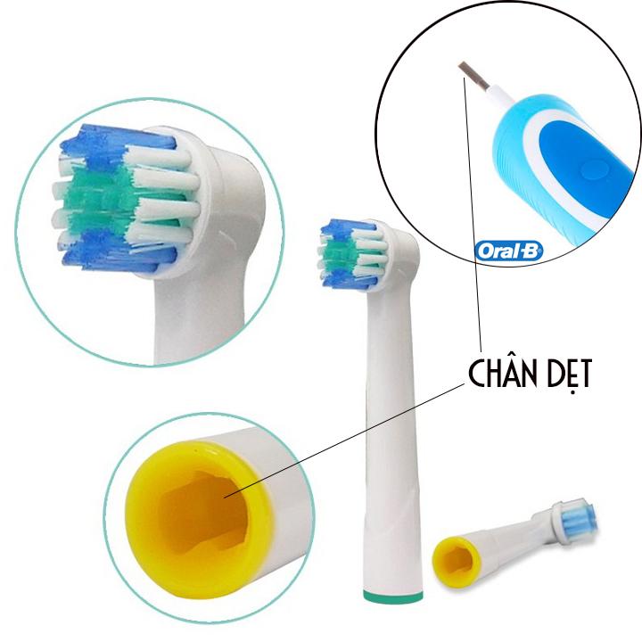 Cho máy Braun Oral B, SB-17A Daily Bộ 4 đầu bàn chải đánh răng điện thay thế, Phá tan mọi mảng bám, cho răng sáng bóng