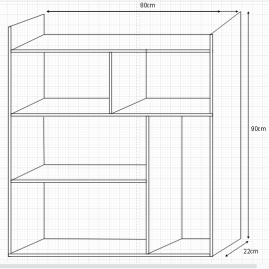 Kệ Trang Trí Treo Tường (80x90x22cm)