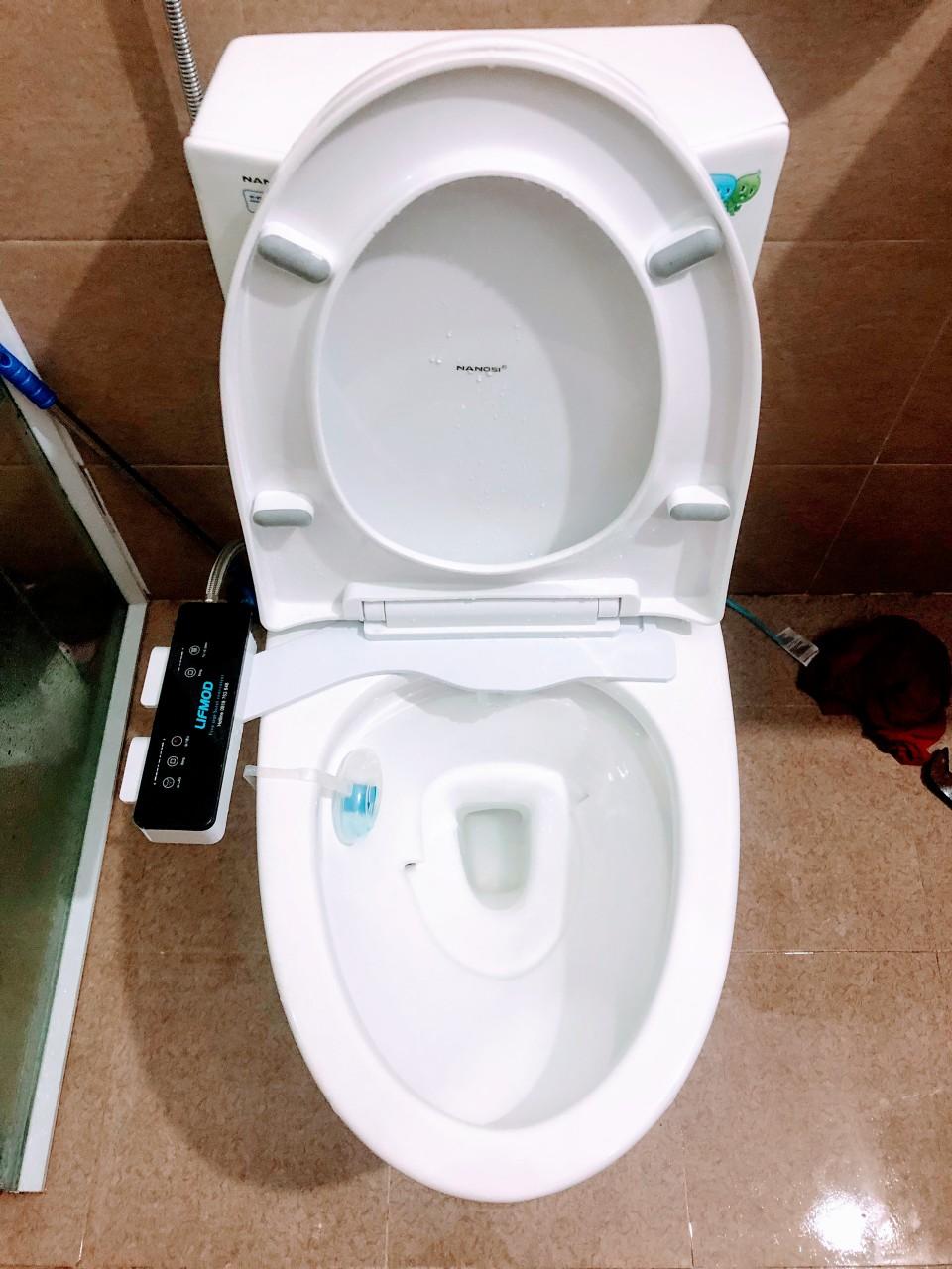 Vòi xịt vệ sinh thông minh 2 vòi phun bản cao cấp Deluxe bidet