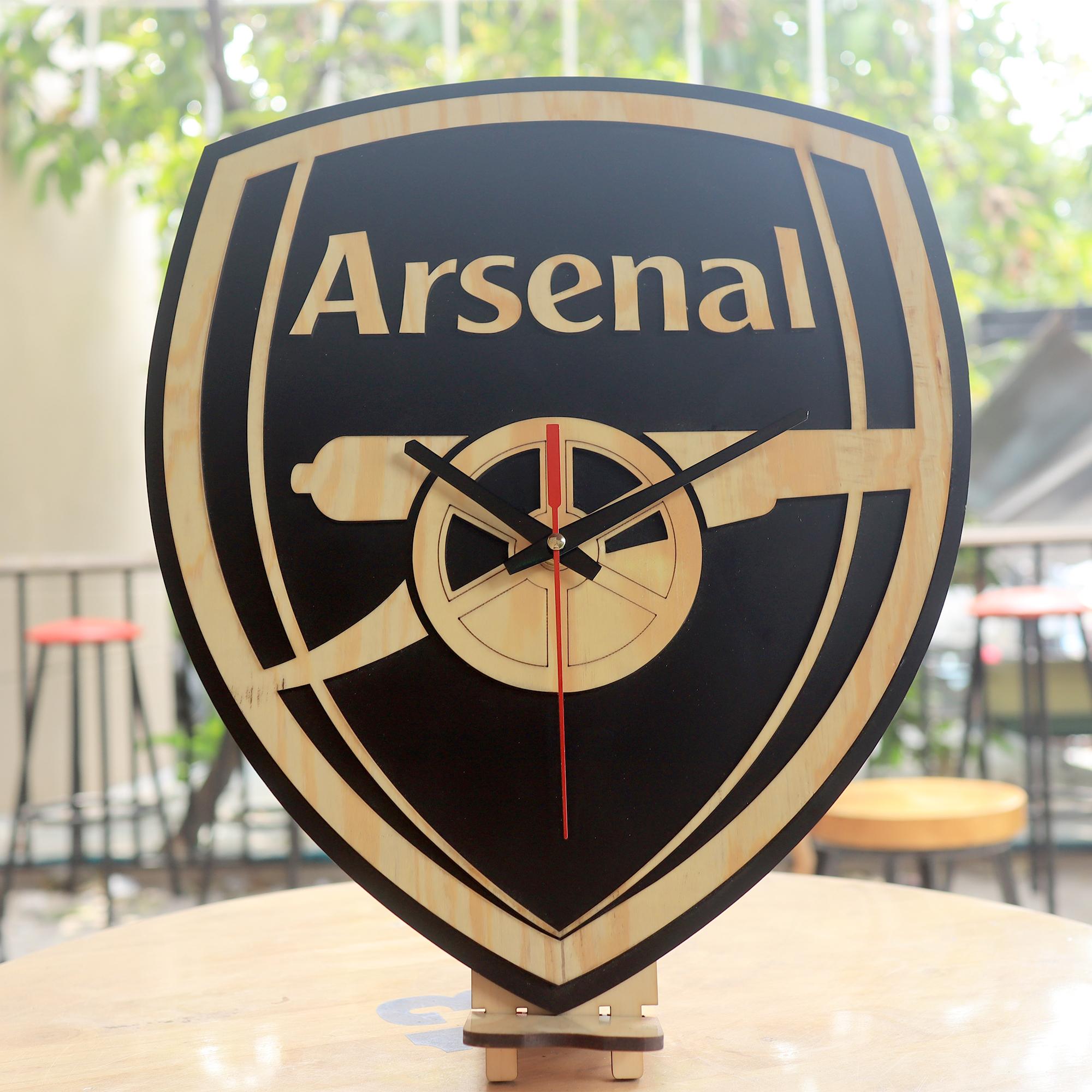 Đồng Hồ Gỗ Treo Tường Arsenal