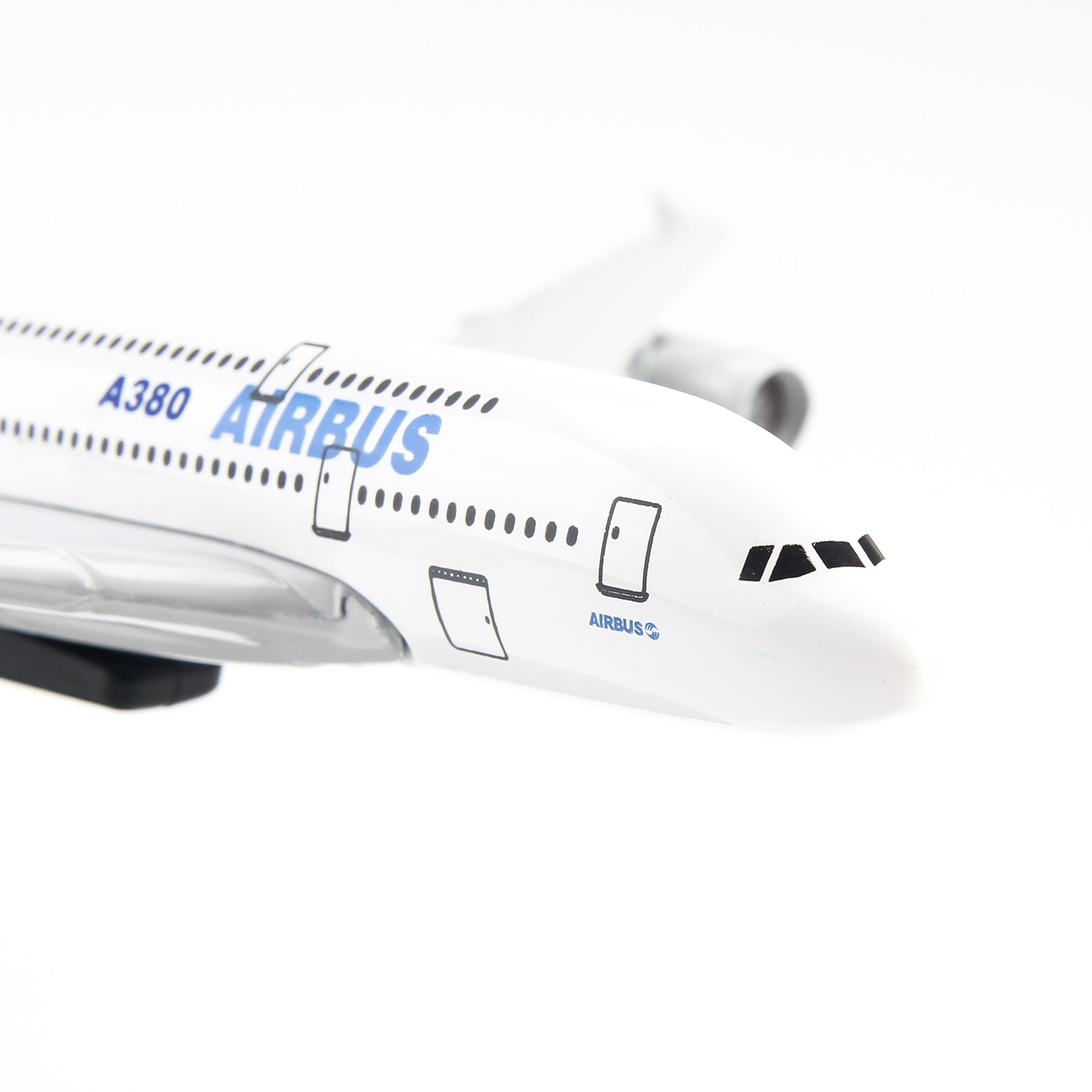 Mô Hình Máy Bay Trưng Bày Airbus A380 Everfly AB20 (20cm)