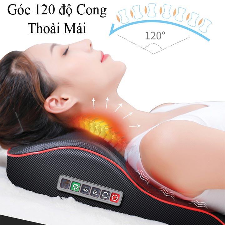 Gối Massage Kiêm Tựa Lưng Đa Năng Le er Kang LEK- 618- 9 tích hợp chế độ rung cùng hồng ngoại