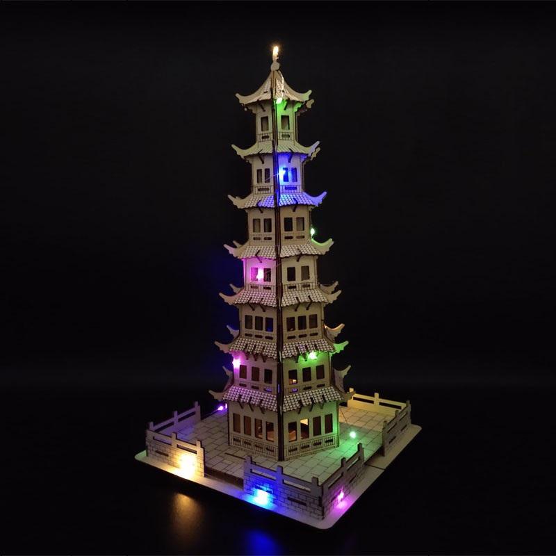 Đồ chơi lắp ráp gỗ 3D Mô hình Chùa Pagoda HG-F026