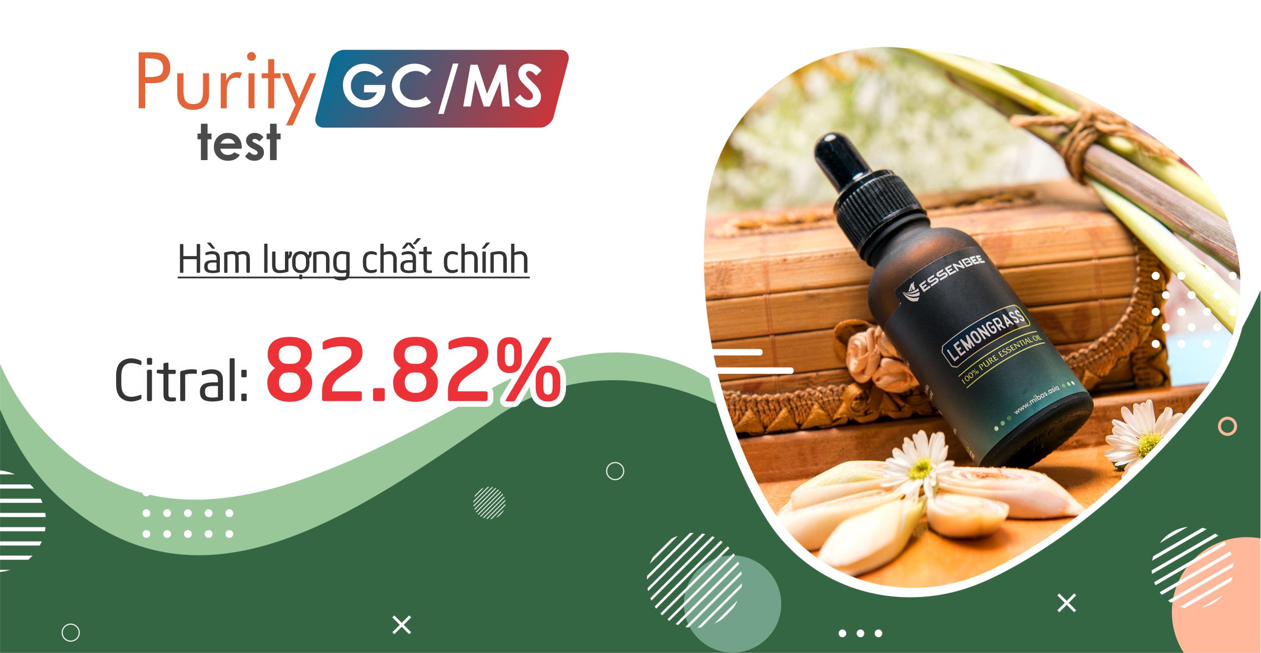 Tinh dầu thiên nhiên Sả Chanh - Essenbee - 30ml - Giúp thư giãn tinh thần, giảm stress, xua đuổi côn trùng và muỗi, an toàn cho trẻ em
