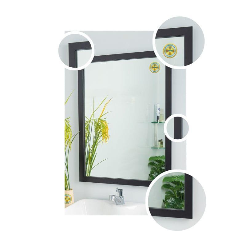 Gương soi cao cấp khung viền màu đen [KIBATH-ĐT3P50X65]