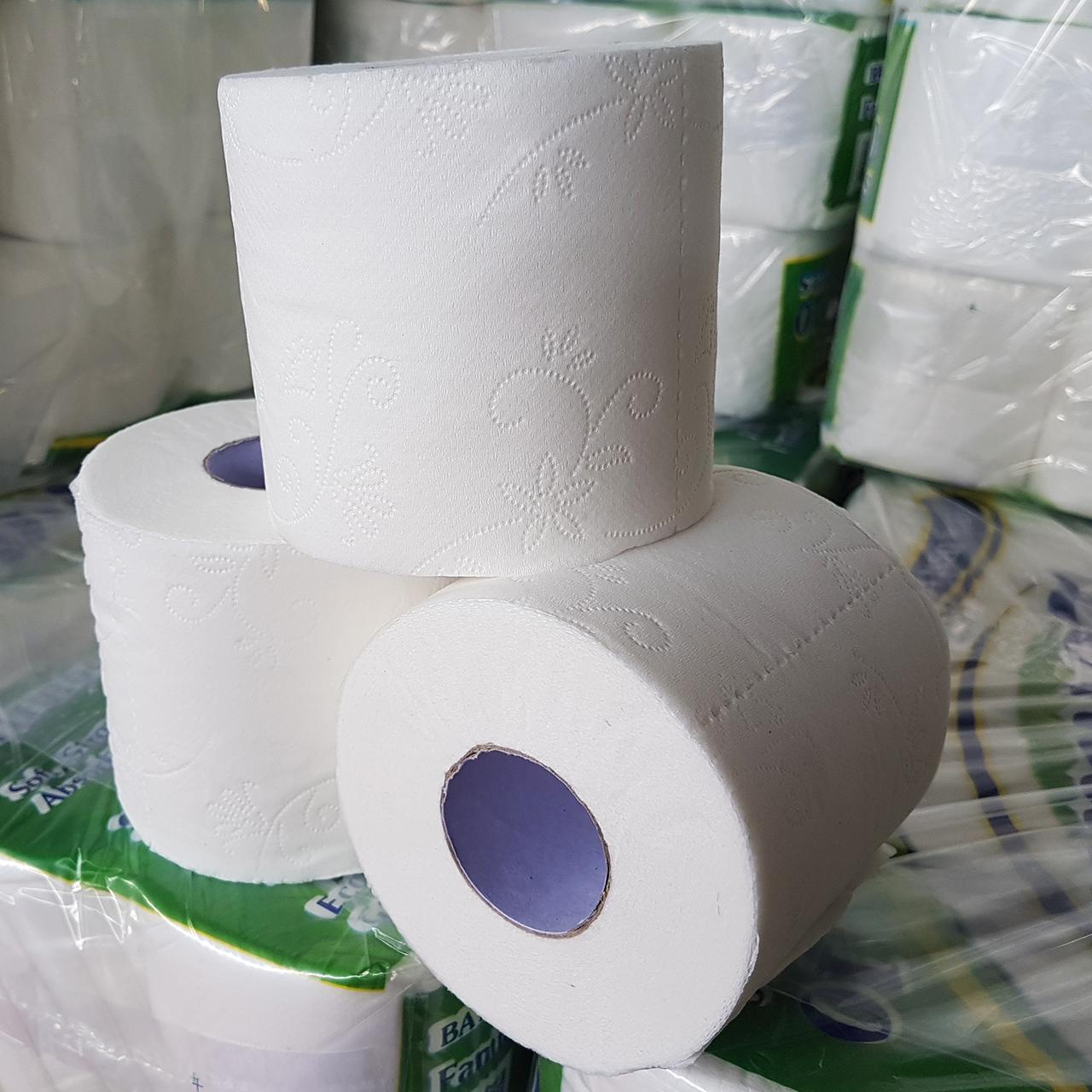 Combo 5 lốc giấy vệ sinh Leman Xanh lá 3 lớp (10 cuộn/ lốc)