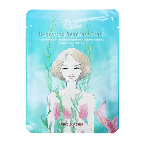 Combo Chăm Sóc Da Kem Chống Nắng Rosie Seoul Rose First Essence Whitening Serum Sunscreen và 5 Mặt nạ cỏ biển Rosie (5 miếng x22gr)