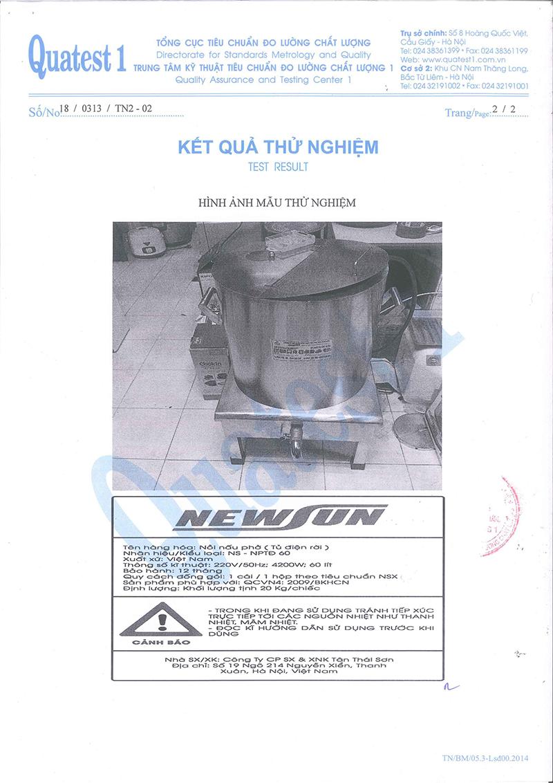 Nồi Nấu Phở Tủ Điện Rời NEWSUN 150L - Hàng chính hãng