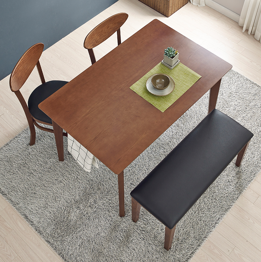 Bộ Bàn Ghế Hàn Quốc VIVA 2 ghế - 1 ghế dài (Màu nâu)
