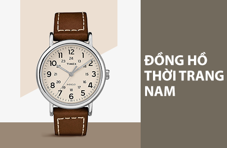 Đồng hồ thời trang, casual nam