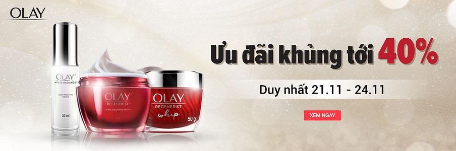 Olay Brand Day - Ưu đãi khủng lên tới 40%, áp dụng cho các mã hàng Olay trên Tiki Trading