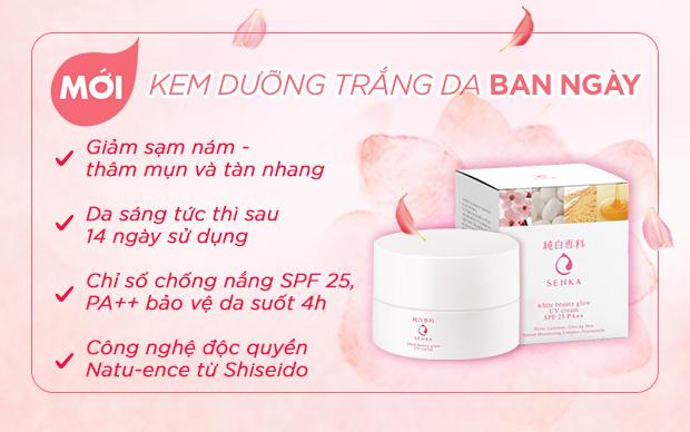 Kem Dưỡng Trắng Da Ban Ngày Senka White Beauty Glow UV Cream SPF ...