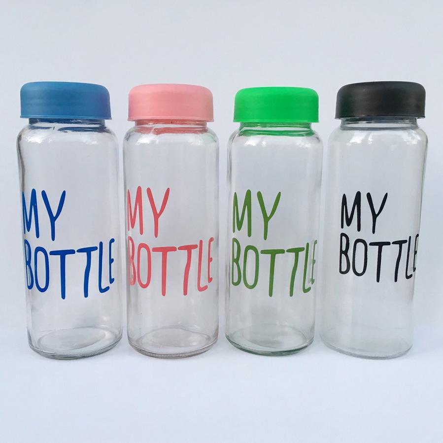 Bộ 4 bình thủy tinh My Bottle 500ml - Màu ngẫu nhiên