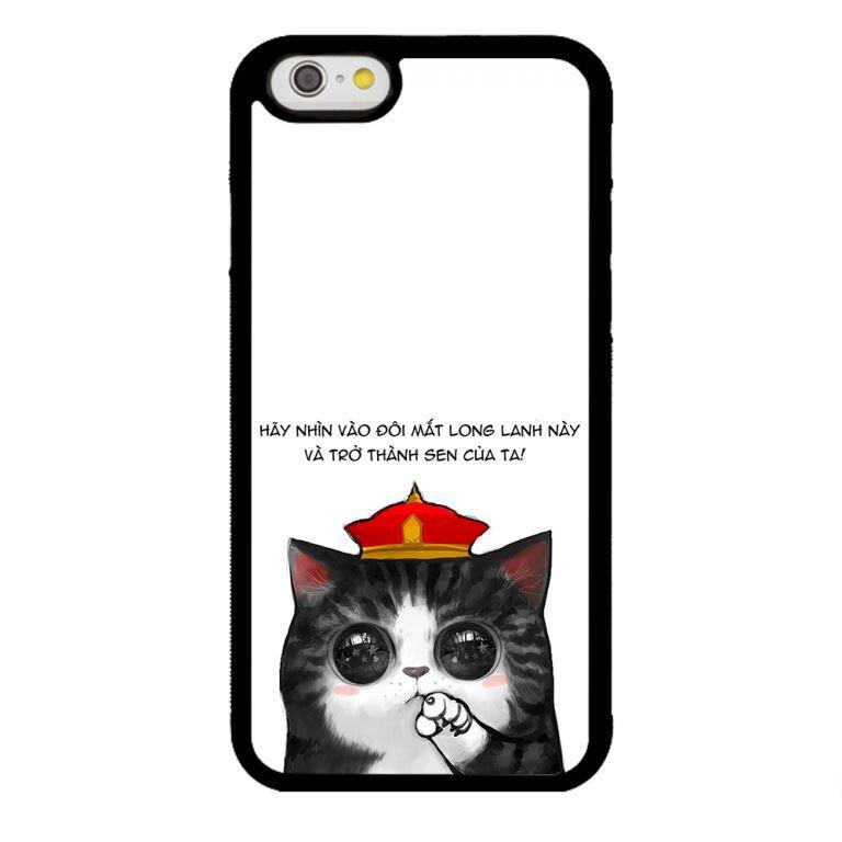 Ốp lưng dành cho điện thoại Iphone 6s Mèo Long Lanh