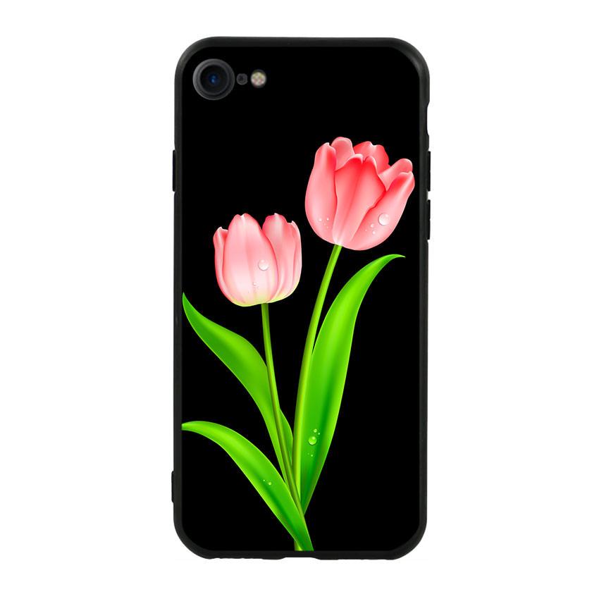 Ốp lưng viền TPU cho điện thoại Iphone 7 / Iphone 8 - Tulip 01