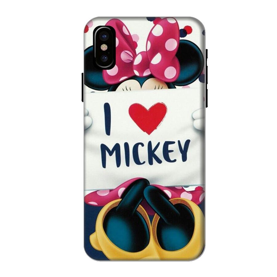 Ốp Lưng Dành Cho Điện Thoại iPhone X - I Love Mickey