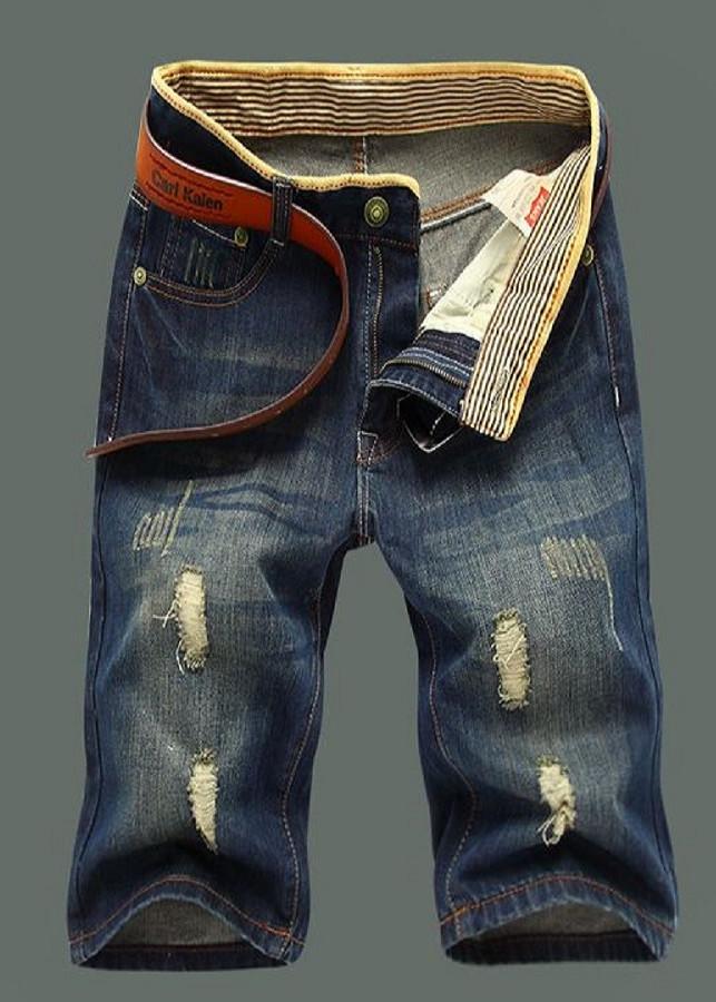 Quần Short Jeans Nam Rách Nhé Phong Cách Cá Tính