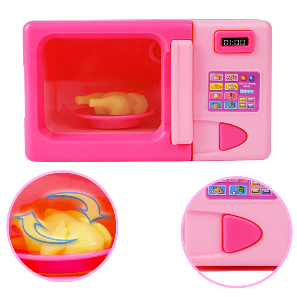 Portable Simulation Microwave Toy Kids Children Electric Food Boy Girl Gift