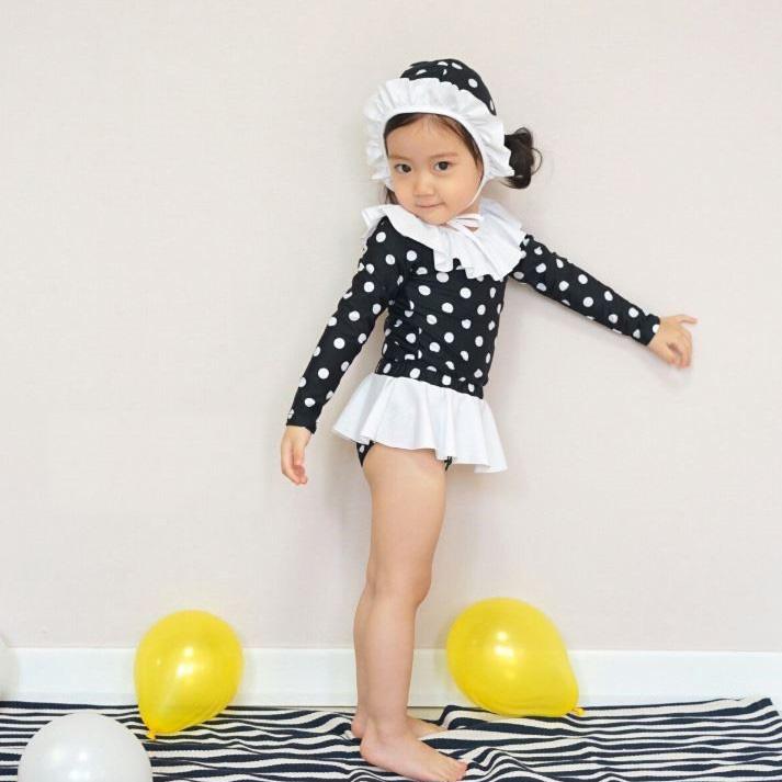 Set đồ bơi chấm bi bé gái SW#2 NEWKIZ - quần áo trẻ em phong cách hàn quốc