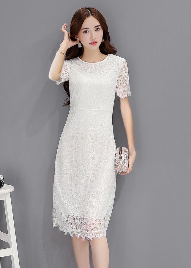 Đầm Suông Phối Ren D2810