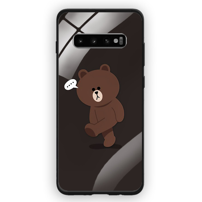 Ốp Lưng Kính Cường Lực Cho Điện Thoại Samsung Galaxy S10 Plus - 391 0085 GAUBROWN01 - Hàng Chính Hãng