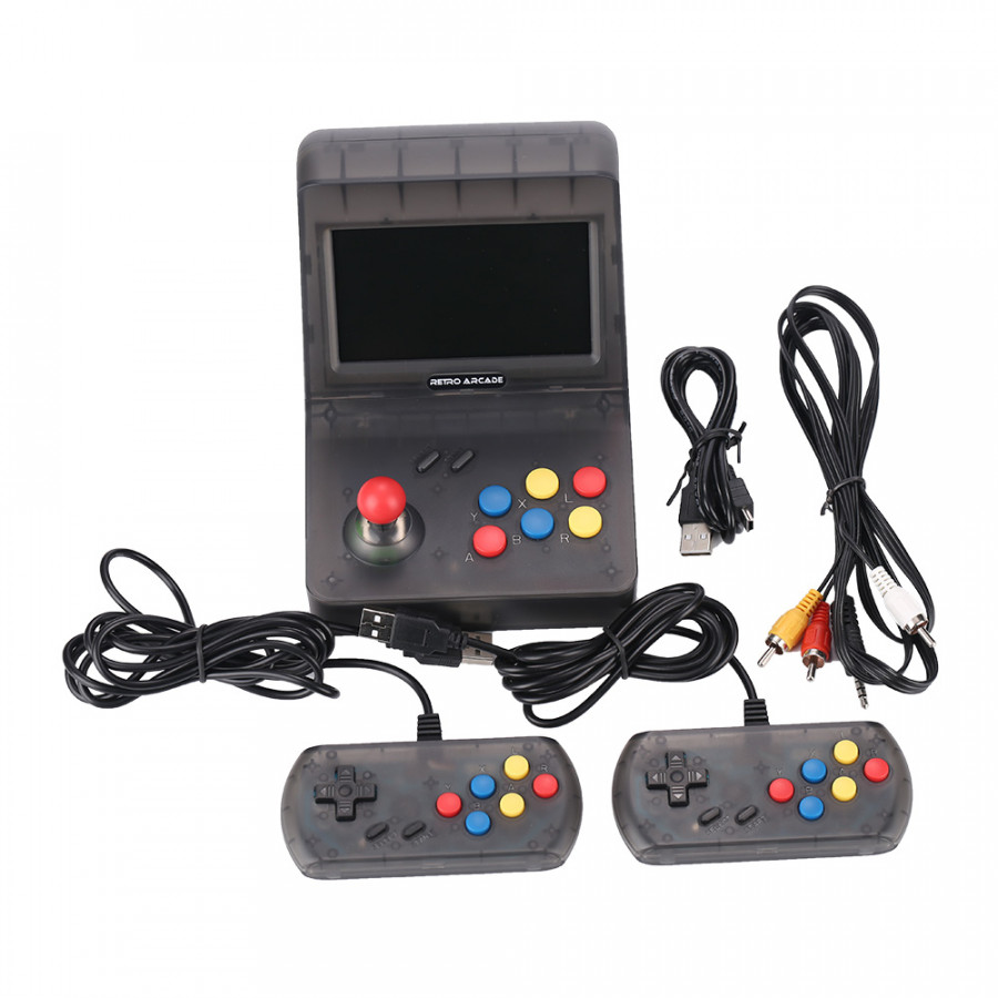 """Game Console 4.3"""" TFT Screen w/ 2 Controllers Portable Classic Console 3000 Built-in Games for Kids - Black - 9608855 , 8206505168609 , 62_19336728 , 2346000 , Game-Console-4.3-TFT-Screen-w-2-Controllers-Portable-Classic-Console-3000-Built-in-Games-for-Kids-Black-62_19336728 , tiki.vn , Game Console 4.3"""" TFT Screen w/ 2 Controllers Portable Classic Console 3"""
