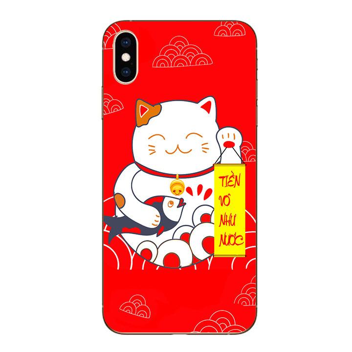 Ốp lưng dẻo cho Iphone XS Max - Mèo May Mắn 01
