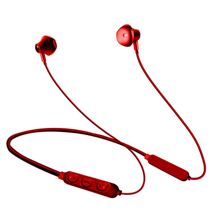 Tai Nghe Bluetooth 5.0 Tai nghe quàng cổ thể thao chống thấm nước PF171 Đỏ  Sport Earphone