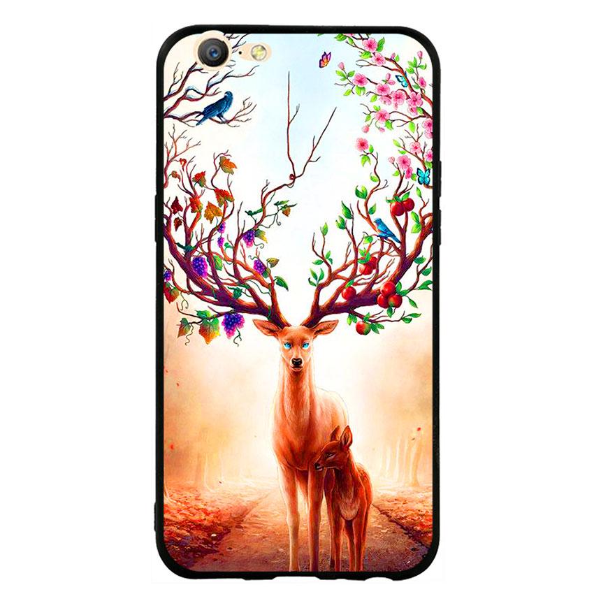 Ốp Lưng Viền TPU cho điện thoại Oppo F3 Lite (A57) -Deer 01