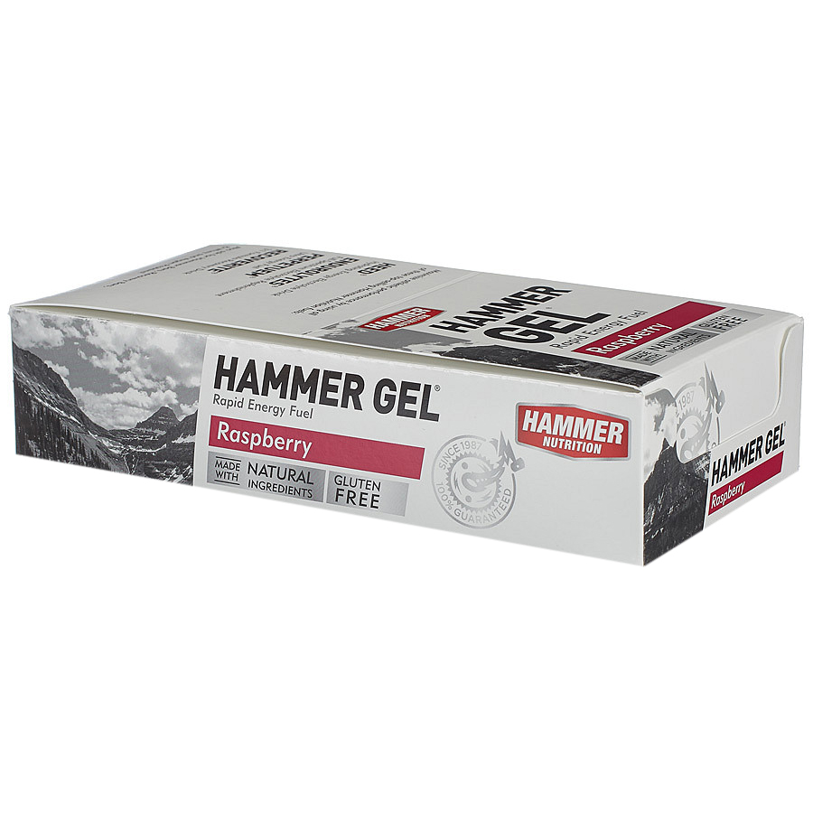 Hộp 24 gói Gel uống bổ sung năng lượng - Hammer Nutrition Hammer Gel vị dâu rừng HM601H