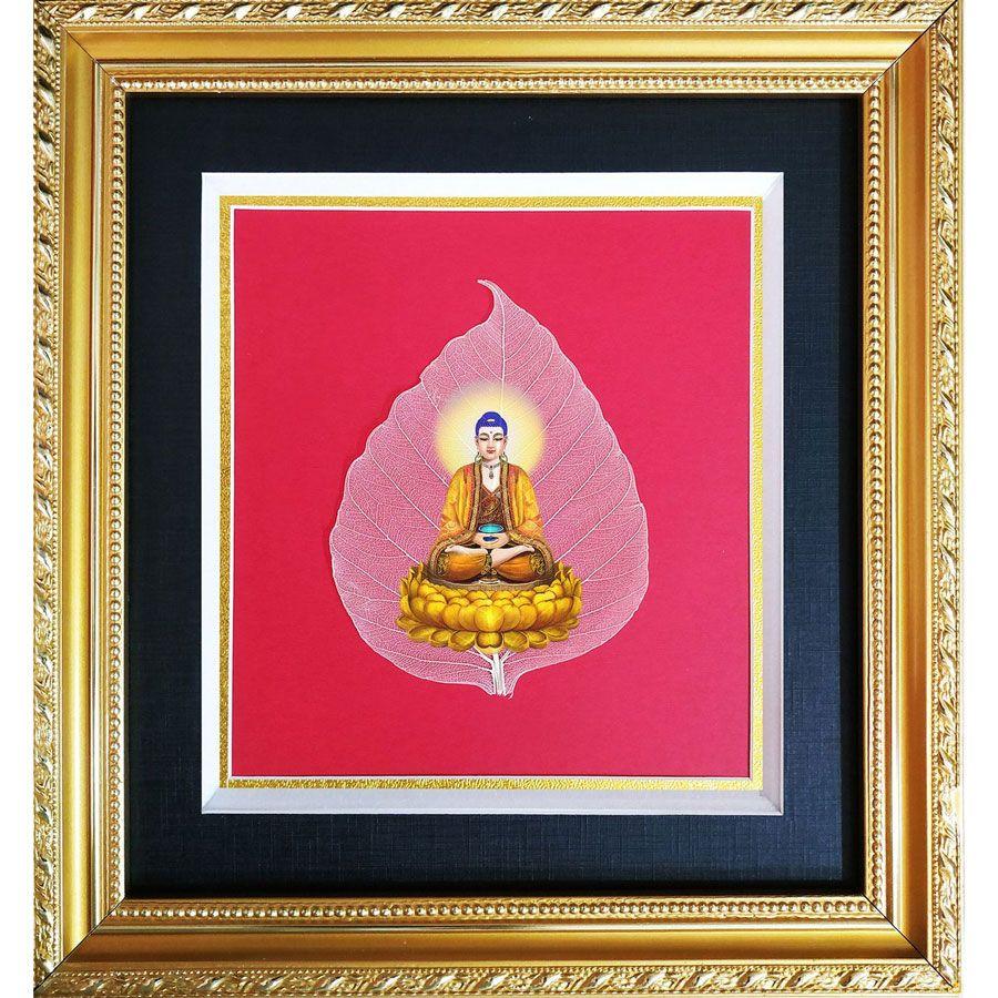 Tranh In Phật Trên Bồ Đề HPB-9