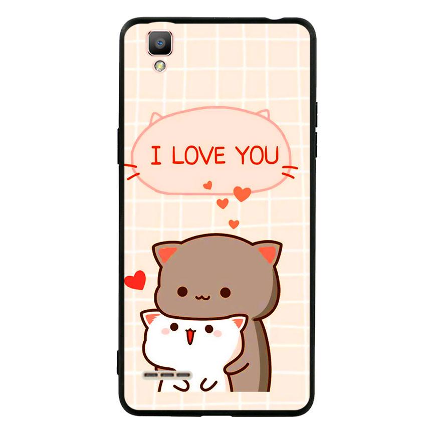 Ốp lưng viền TPU cho điện thoại Oppo F1 - I Love U