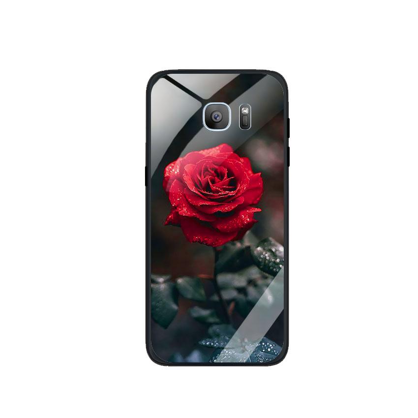 Ốp Lưng Kính Cường Lực cho điện thoại Samsung Galaxy S7 Edge - 0322 ROSE08