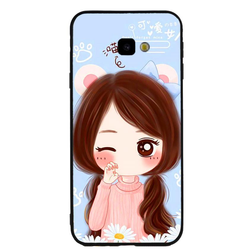 Ốp lưng viền TPU cao cấp cho điện thoại Samsung Galaxy J4 Plus -Baby Girl