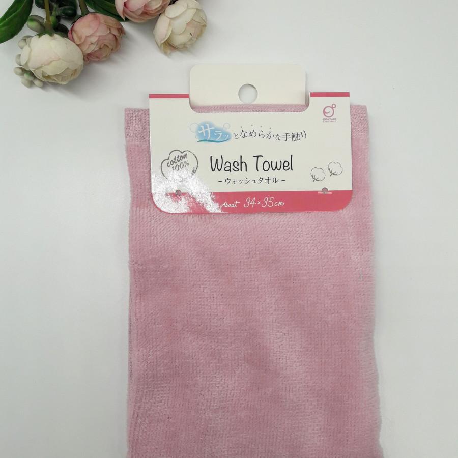 Khăn mặt mềm mịn 100% cotton Okazaki Nhật nội địa (34x35cm))