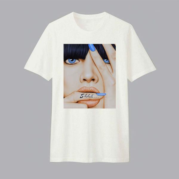 Áo T-shirt Trẻ Em Shhh Dotilo HU009 - Trắng
