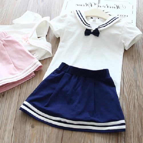 Bộ váy hải quân (áo và chân váy)