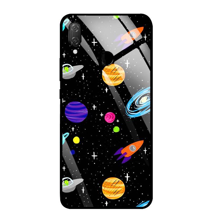 Ốp Lưng Kính Cường Lực cho điện thoại Huawei Y9 2019 - 03033 0063 SPACE04 - Hàng Chính Hãng