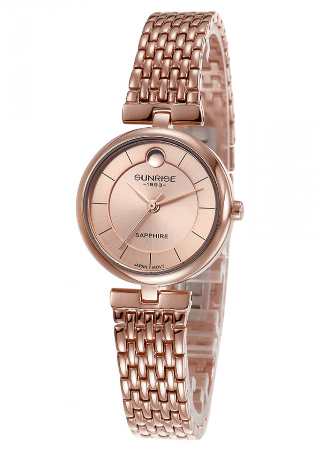 Đồng hồ nữ siêu mỏng Sunrise 9967SA kính Sapphire chống xước chống nước tốt - Fullbox chính hãng