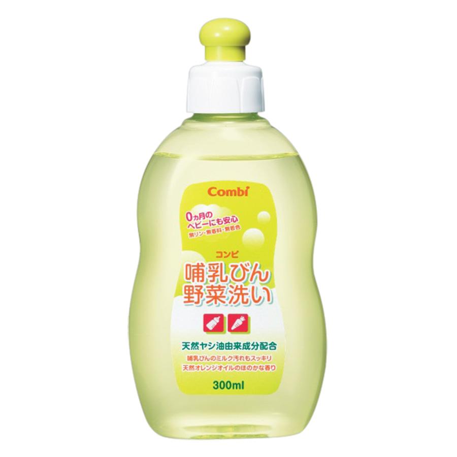 Chai Dung Dịch Rửa Bình Sữa Và Rau Quả Từ Dầu Cọ Combi (300ml)