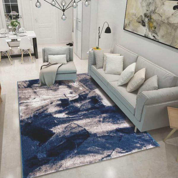 Thảm Trang Trí Phòng Khách Và Sofa Lông Ngắn BA006 - Blue Art