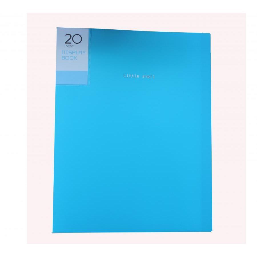 Bìa hồ sơ A4 20 lá nhựa (Giao màu ngẫu nhiên)