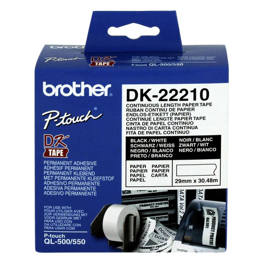 Giấy In Nhãn Liên Tục Brother DK-22210 (29mm x 30m) - 881121 , 9525101383315 , 62_8155343 , 430000 , Giay-In-Nhan-Lien-Tuc-Brother-DK-22210-29mm-x-30m-62_8155343 , tiki.vn , Giấy In Nhãn Liên Tục Brother DK-22210 (29mm x 30m)