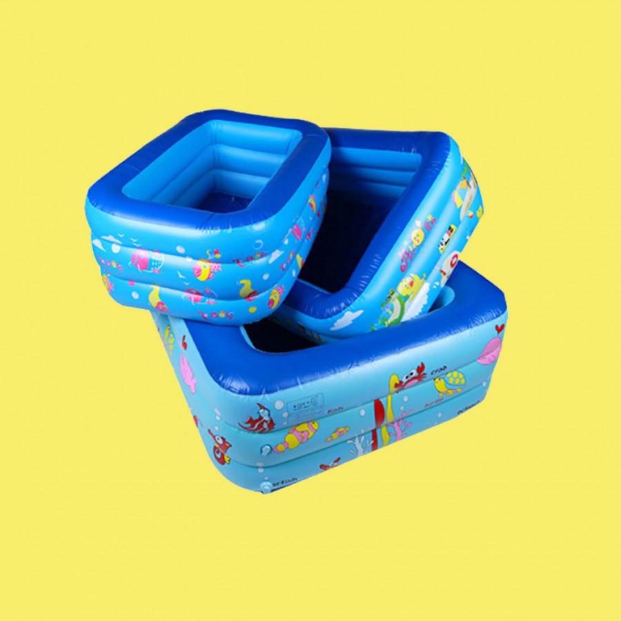 Bể bơi phao mini chính hãng Summer Baby 150*110*50 (tặng kèm bơm điện)