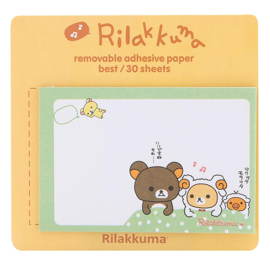 Giấy Note - Rilakkuma - Giao Ngẫu Nhiên Theo Chủ Đề (19 Tờ/ Xấp)